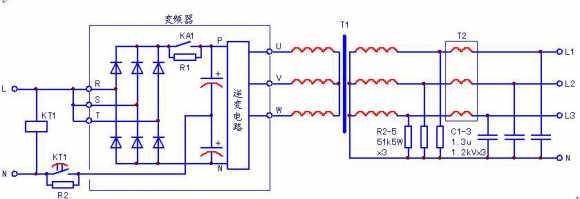 变频器三相维修电源的制作