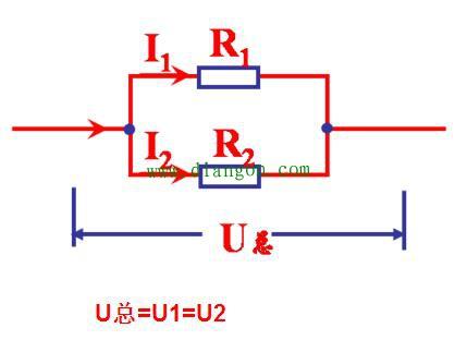 并联电路电压 电流和电阻特性