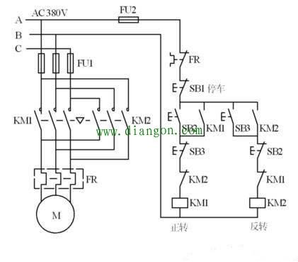 电动机正反转互锁电路接线图详解