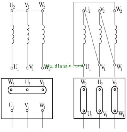 电动机星型连接与三角形连接