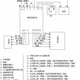 楼宇对讲系统图接线说明