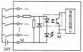 PLC数字量输入模块电路