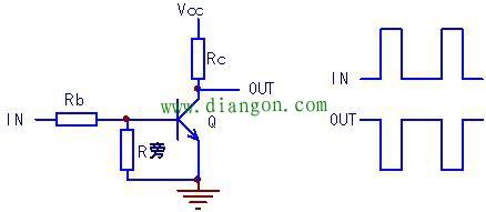 晶体三极管构成的反相器基本电路