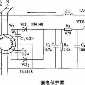 家用漏电保护器过电压保护电路原理图解