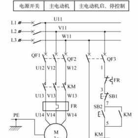 5.5KW三相异步电动机控制电路图原理及电气元器件选型