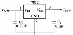 78××系列三端稳压器的典型应用电路