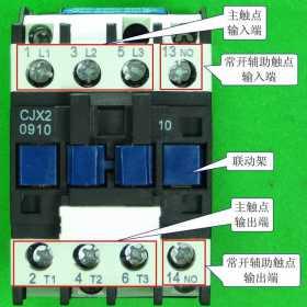 交流接触器外形与接线端功能图解