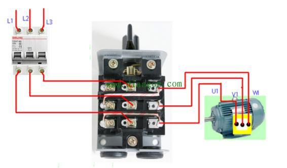 接触器控制电机正反转接线方法图解 初学电工必看!