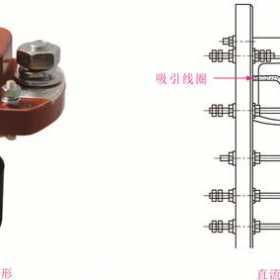 直流接触器的实物外形及内部结构