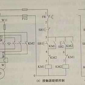 电机正反转单联锁控制与双重联锁控制电路原理图解