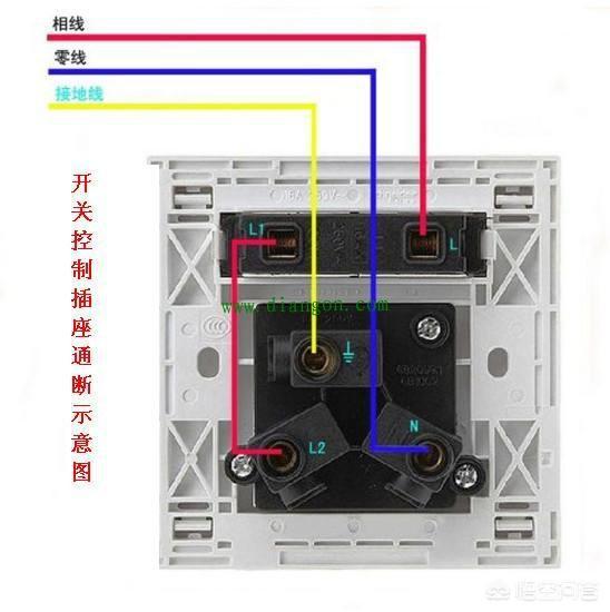 如图,双控开关接线图,需要三根线,如果接插座,就需要引入一根零线