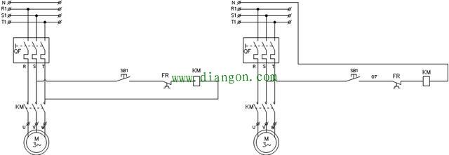 点动控制电气原理图和实物接线图的详细解说