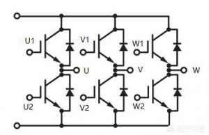 变频控制中三相逆变桥的工作原理