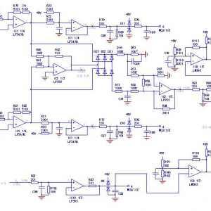 CVF-G3型75kW变频器后级电流电压检测电路图