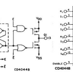 三态R-S锁存触发器CC4044B内部电路结构与引脚功能