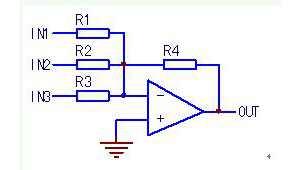 变频器反相求和电路输出结果的快速估算