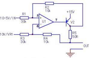 由差分电路构成的压控恒流源电路的简要分析方法