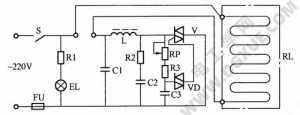 双向晶闸管调温型电热毯电路工作原理