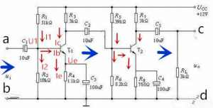 多级阻容耦合放大电路图分析