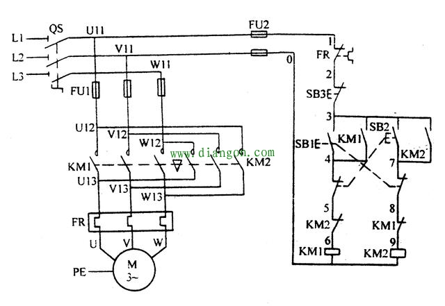 互锁一般出现在正反转电路中,为了避免2个接触器同时吸合,2个接触器