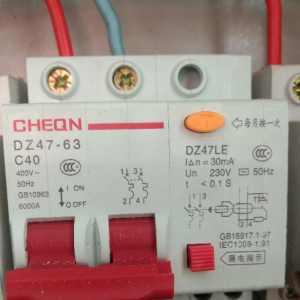 漏电保护器跳闸状态 怎么也合不上去