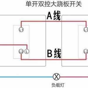 单开双控开关接线图实物图_单开双控开关接线方法图解
