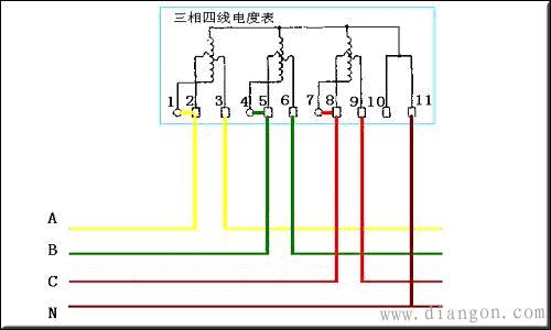 三相四线电表怎么接线