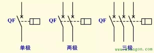 空气开关符号_空气开关的文字图形符号 - 电工基础知识_电工学习网