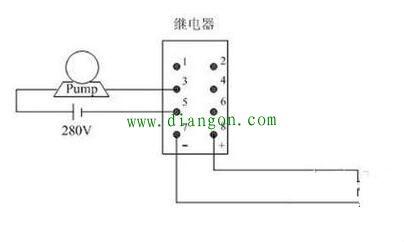 8脚中间继电器怎么接线?8脚中间继电器接线图
