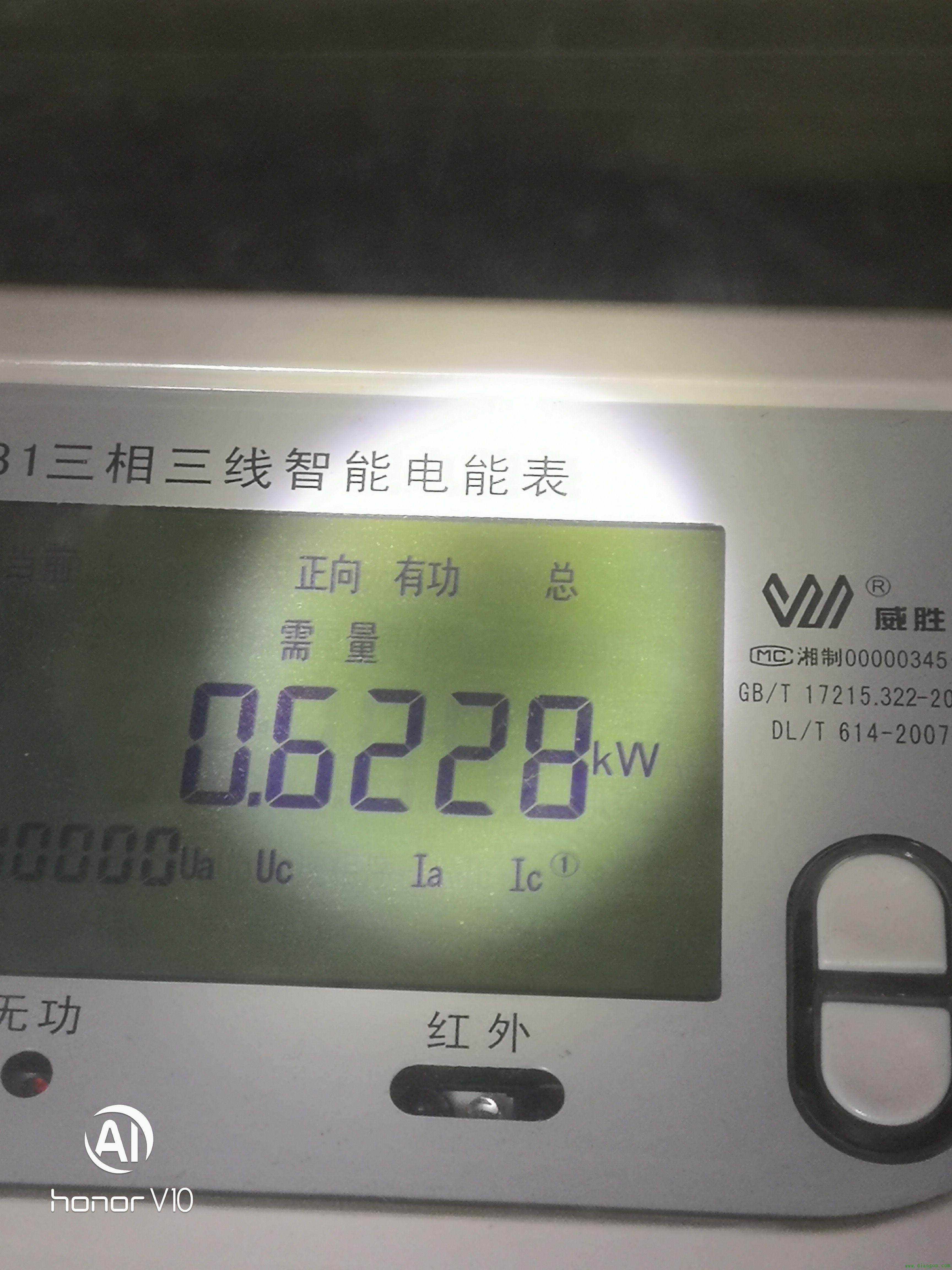正向有功总是什么意思?这里需量 0.6228KW什么意思?