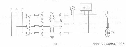 电压互感器的V/V形接线