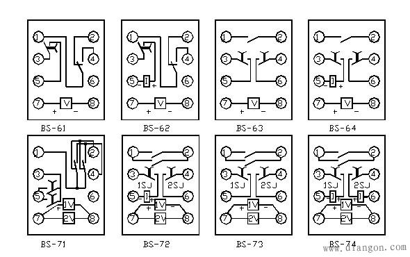 时间继电器接线图
