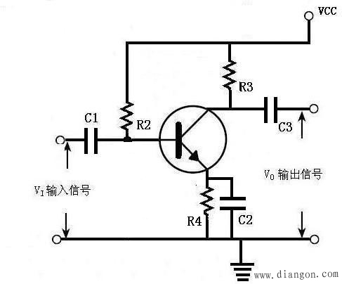 带电流反馈的三极管基极偏压电路