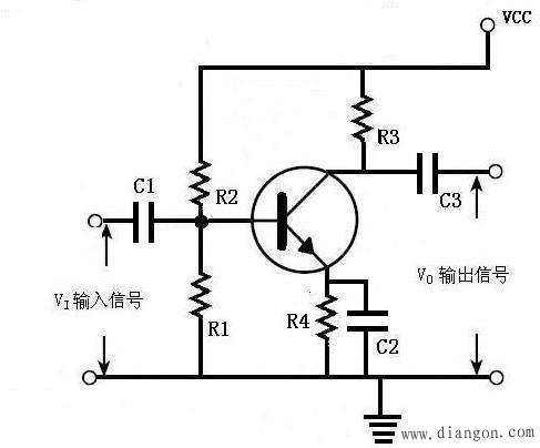 三极管分压式基极偏流电路