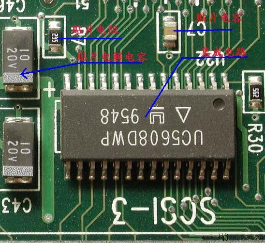 电子元器件的识别图