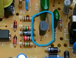 电路板上的三极管