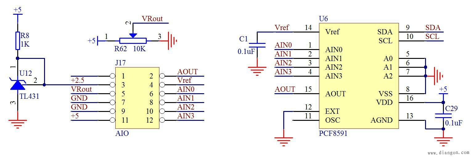 PCF8591电路图