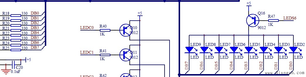 单片机教程-LED电路