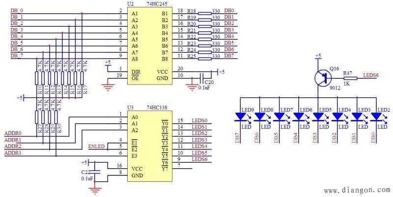 单片机教程-LED电路图