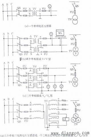 电压互感器vv接线图