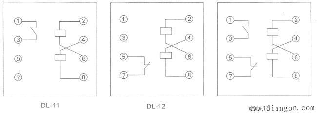 DL电流继电器接线图