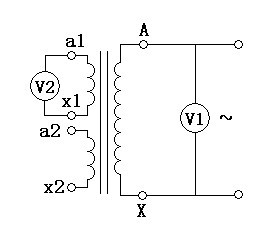 电压表法试验接线图