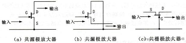 场效应管三种组态电路