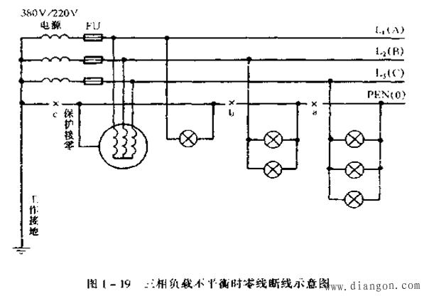 在低压三相四线制(380/ 220V)供电中系统,零线的作用是什么?零线断线时有什么后果? - 白鹰 - 电气技术中心