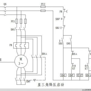 三菱PLC星-三角降压启动控制编程实例