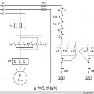 三菱PLC自动往返控制程序编程实例