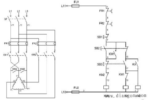 双速电机接线图