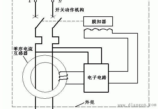 漏电保护插头原理图