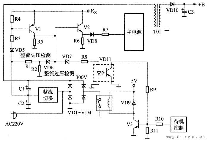 图3 整流、滤波电路过压、欠压保护电路图