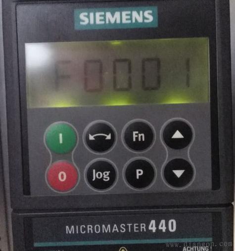MM420变频器故障F0001